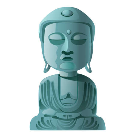 funny stone statue of Buddha on a white background Stock Vector - 24166765