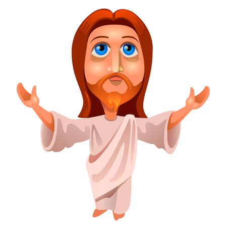 vector illustration of Jesus Christ on a white background Illustration