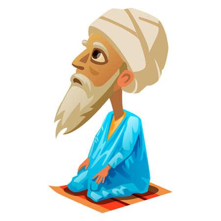 mohammed: vector illustration of Mohammed on a white background