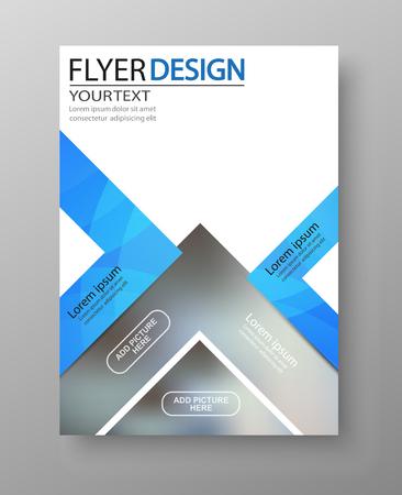 Progettazione di volantini aziendali. Per modello artistico, brochure mockup, banner, idea, copertina, opuscolo, stampa, libro, vuoto Vector eps10