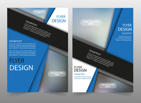 Business brochure flyer design layout template. Can be used for publishing, print and presentation. Vector. Eps 10 Vettoriali