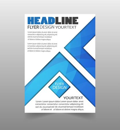 Abstract flyer design background. Brochure template. Can be used for magazine cover, business mockup, education, presentation, report.