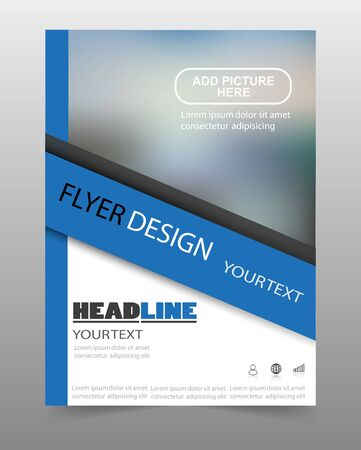 Business Flyer Design. Can be used for art template design, list, front page, mockup brochure theme style, banner, idea, cover, booklet, print, book, blank, card, sign, sheet, poster.