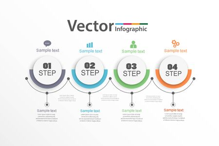Infographics design vector can be used for workflow layout, diagram, annual report, web design. Business concept with 4 options, steps or processes