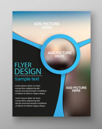 Business flyer Design. Can be used for art template design, list, front page, mockup brochure theme style, banner, idea, cover, booklet, print, book, blank, card, sign, poster. Vector eps10 Stok Fotoğraf - 136461159