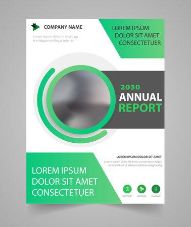 Business annual report brochure flyer design template