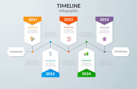Timeline infographic template design. Can be used for workflow layout, diagram, annual report, web design, steps or processes