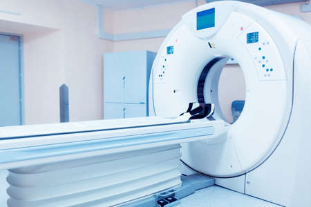 CT (Computed tomography) scanner in hospital laboratory.