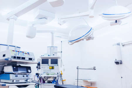 Equipment and medical devices in hybrid operating room blue filter , Surgical procedures , the operating room of the Future Фото со стока