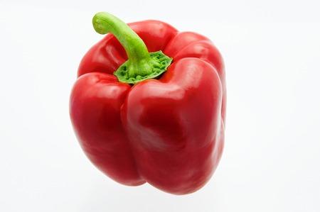 Fresh, beautiful bell sweet pepper on white background, close-up. Reklamní fotografie
