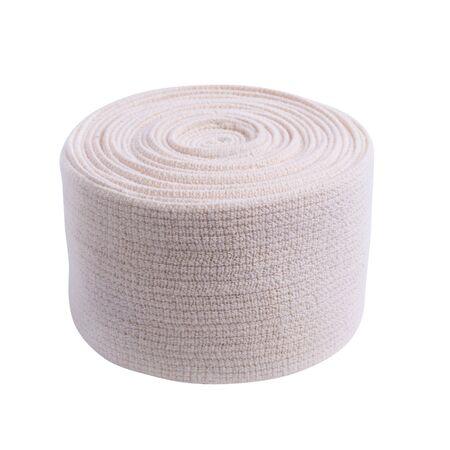 Medical bandage roll isolated on white background Stock Photo