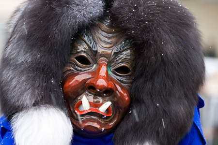 fasnet: Wooden mask - mixture of human and demon