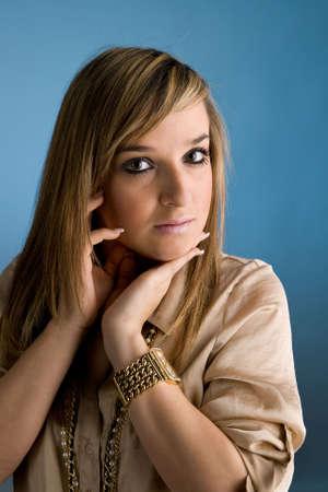 Portrait of beautiful lady. Studio shot Stock Photo - 6875522