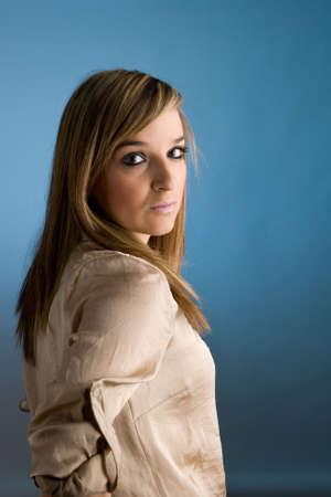 Portrait of beautiful lady. Studio shot Stock Photo - 7079069