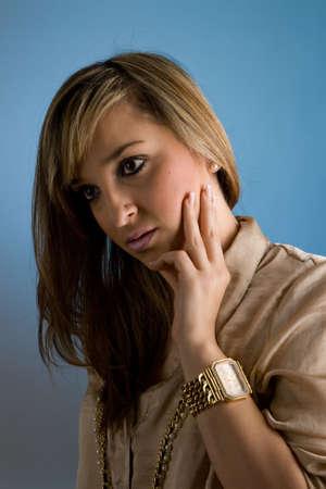 Portrait of beautiful lady. Studio shot Stock Photo - 7079071