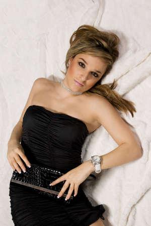 Fashionable young lady. Studio shot Stock Photo - 7079070
