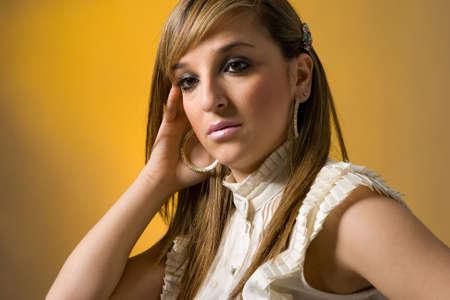 Elegant young women. Studio shot photo