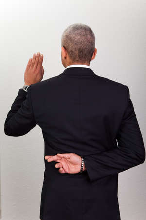 to lie: Businessman Taking Oath