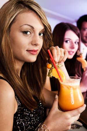 Beautiful women in nightclub Stock Photo - 8559375