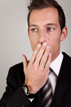 Yawning Young Businessman Stock Photo - 8559380