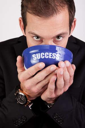 Businessman enjoying success Stock Photo - 8593929