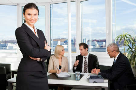 Businesswoman standing in front Stock Photo - 8628324