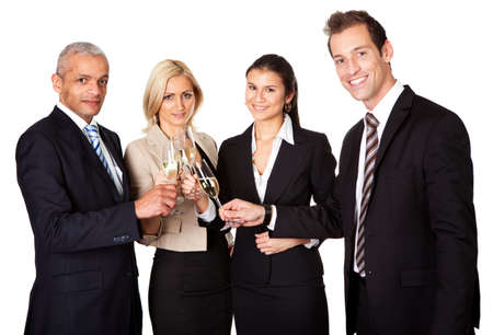 Business team celebrating success Stock Photo - 8628319