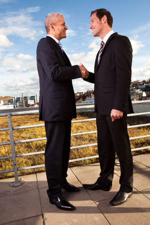 Business handshake over the deal photo
