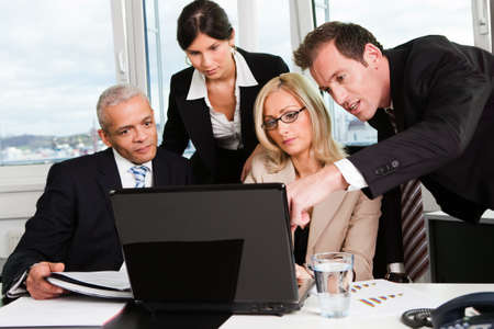 ethnic diversity: Business team at the meeting Stock Photo
