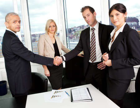 Business handshake over the deal Stock Photo - 8689441