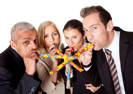 Business team celebrating birthday Stock Photo - 8689451