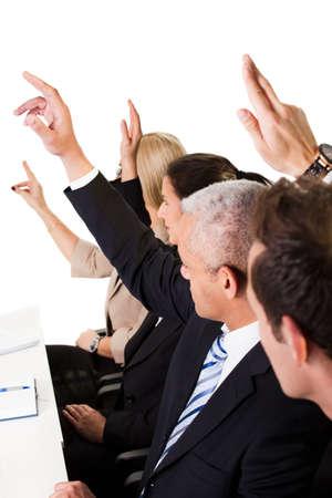 preguntando: Conferencia de negocios