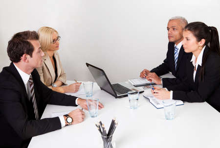 Business people discussing in the meeting
