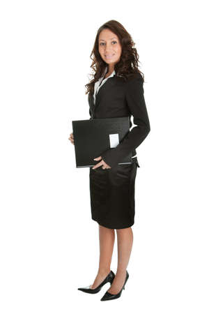 Excited businesswoman celebrating success photo