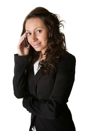 Businesswoman talking on mobile phone photo