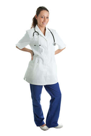 Smiling medical doctor woman with stethoscope Stock Photo - 8961432