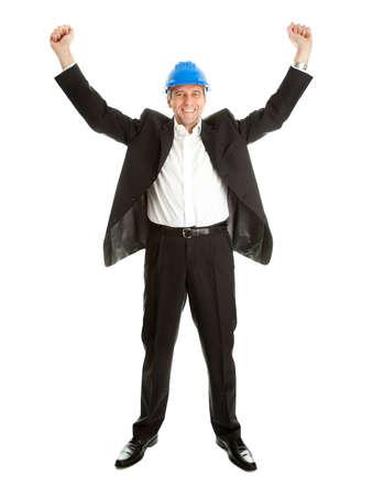 Happy architect celebrating success photo
