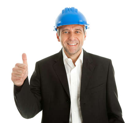 Happy architect celebrating success Stock Photo - 9104748