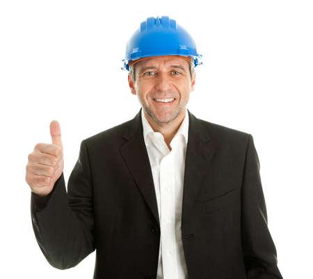 Happy architect celebrating success Stock Photo - 9104748