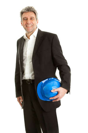 successfull: Portrait of successfull architect Stock Photo