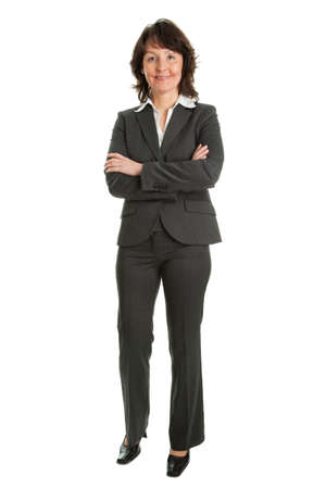 full length woman: Portrait of sucessful senior businesswoman