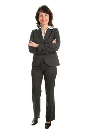 one senior adult woman: Retrato de un �xito senior empresaria Foto de archivo