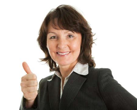 human thumb: Portrait of sucessful senior businesswoman