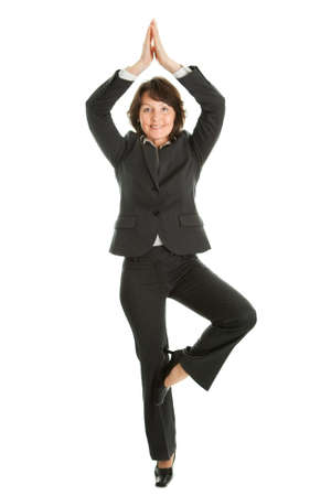relaxation exercise: Businesswoman relaxing Stock Photo