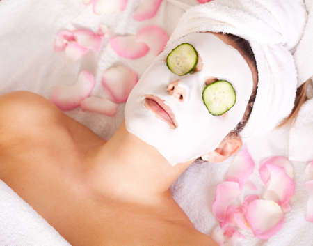 body mask: Facial mask Stock Photo