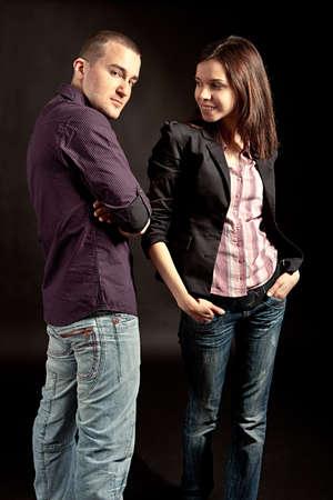 Fashionable young couple photo