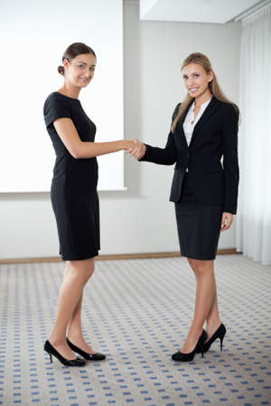 Businesswomen shaking hands photo