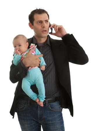 Man Jonglieren im Sein Geschäftsmann und ein Vater