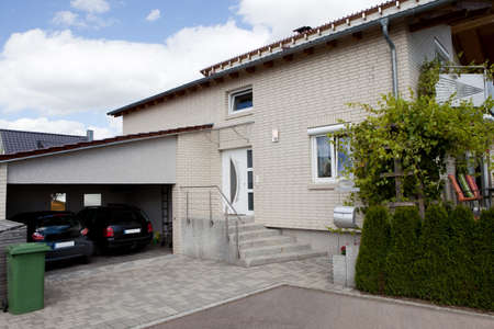 two car garage: Image of dream home with a two car garage
