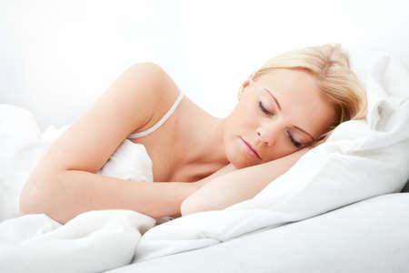 Young beautiful woman sleeping Stock Photo - 12475457